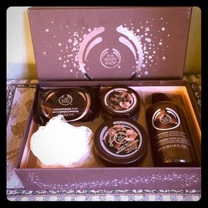 Body Shop chocolate gift set